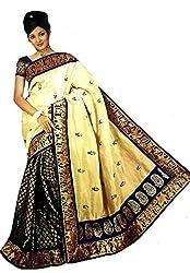 Monash Creations Brocade and Silk half and half Chanderi Silk Saree