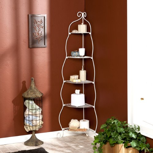 Southern Enterprise Metal 5-Tier Corner Etagere, White