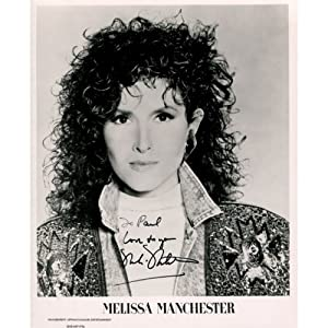 Buy Melissa Manchester Autographed 8x10 Photo by Memorabilia