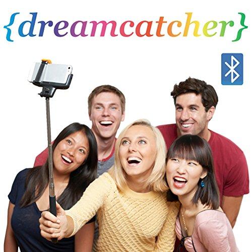 Dreamcatcher Extendable Arm Monopod Selfie Camera Stick with Built-in Remote Shutter for Smart Phones, Black