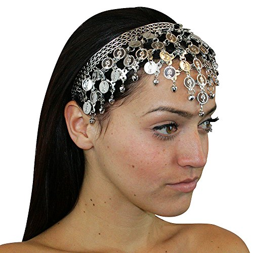 Hip Shakers Silver Triangle Alloy Hair Piece Headdresses Jewelry Party Accessories