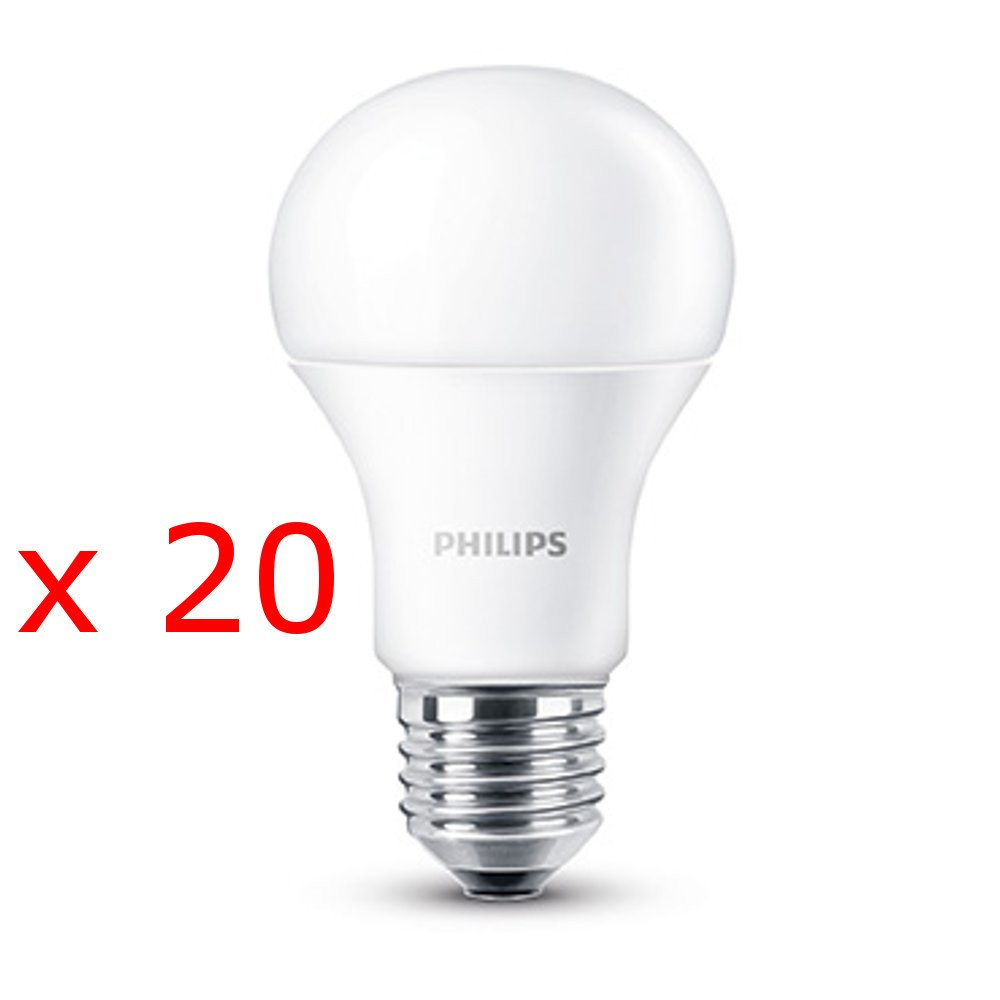 20 Lampadine LED Philips E27 9W equivalente 60W 230V