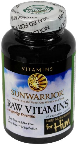 Sunwarrior - Raw Vegan Multivitamins and Enzymes for Him, 90 Capsules (FFP) (Sunwarrior Protein Natural compare prices)