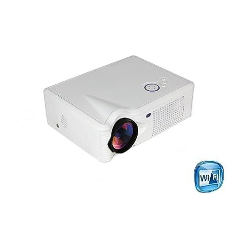 Yunsheng LED-Y8W wifi Android4.2 Wireless HD home cinéma projecteur à LED HD HDMI TV pour une utilisation avec SKY Y8W (Y8W blanc)