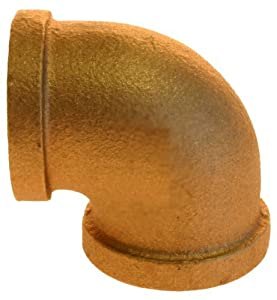 Aviditi 90036 1-Inch Brass 90-Degree Elbow, (Pack of 5)