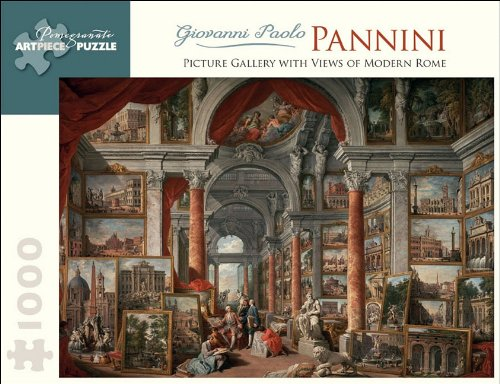 Giovanni Paolo Pannini 1000 Piece Puzzle Picture Gallery With Views Of Modern Rome