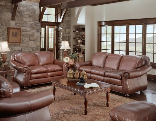 Soflex 4-Pc Furniture Set - Odessa Collection (Redish Brown) (Sizes Vary)