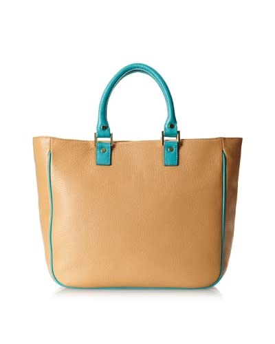 LaLucca Women's Camilla Leather Tote, Nude