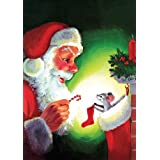 Toland Home Garden Santa   Mouse Flag