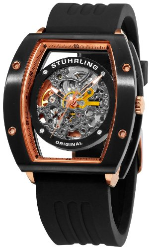 Stuhrling Original Men's 206R.33461 Leisure Zeppelin NT Automatic Skeleton Black Watch