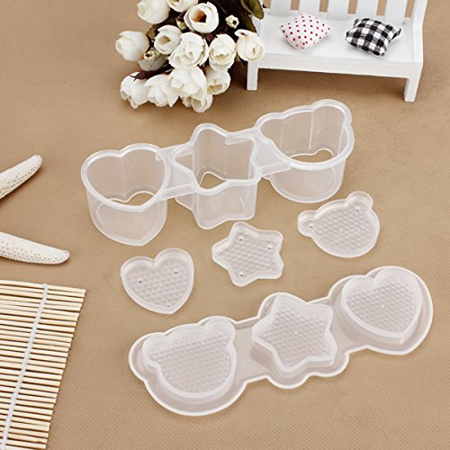 1 Set Heart Star Bear Egg Sushi Rice Mold