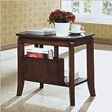 Monarch Specialties Solid-Top Magazine Table, Walnut
