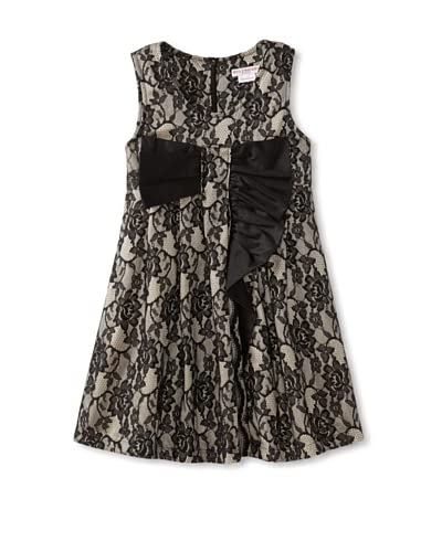 Mini Treasure Kids Girl's Jasmine Dress with Bow  [Black]