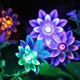 Innoo Tech Tree Christmas String Lights Battery Operated for Indoor, Kid's Bedroom 4M 40 Multi Colour Double-deck Lotus Flower)