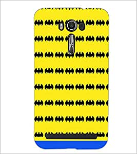 PrintDhaba Bat Pattern D-1463 Back Case Cover for ASUS ZENFONE 2 LASER ZE550KL (Multi-Coloured)