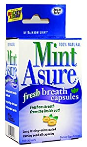 Rainbow Light Mint Asure Fresh Breath, 160-Count Capsules (Pack of 3)