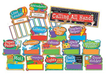 Eureka Hands on Management Job Chart Mini Bulletin Board Sets (Jobs Chart For Classroom compare prices)