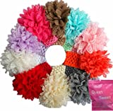 10 Pieces Babys Headbands Girls Lace Flower Headband Hair Accessories (10 Pack)