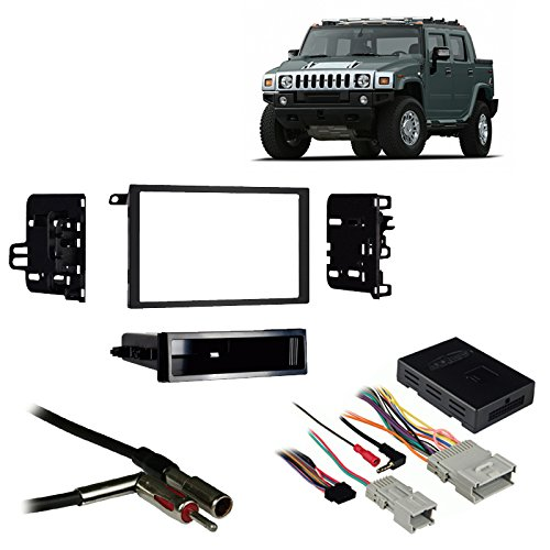 Fits Hummer H2 2003-2007 Double DIN Aftermarket Harness Radio Install Dash Kit (2005 H2 Hummer Double Din compare prices)