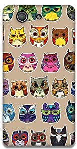 The Racoon Lean owls hard plastic printed back case / cover for Sony Xperia Z3 Compact