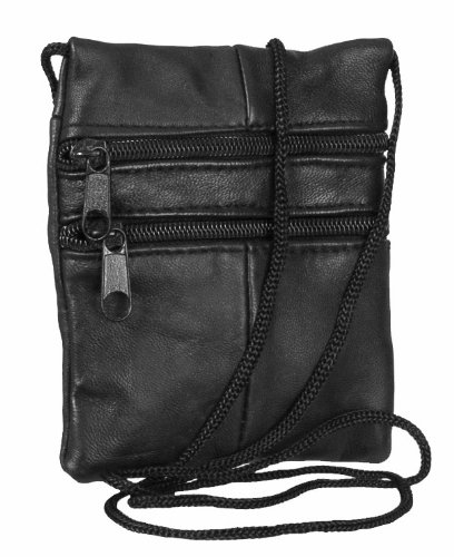 Genuine Soft Leather Neck Passport Holder/Pouch and Purse - 1468