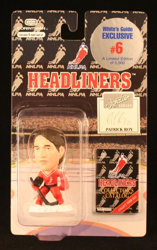 PATRICK ROY / NHLPA (WHITE'S GUIDE EXCLUSIVE #6) 1996 NHL Headliners Hockey Collector * 3 INCH * Limited Edition Figure (5,500 Pieces Produced)