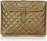 TLB Leather Olive Quilted Ipad Sleeve
