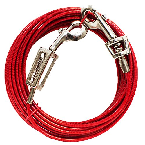boss-pet-prestige-20ft-large-dog-tie-out-with-spring