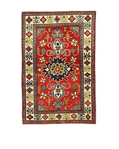 L'Eden del Tappeto Teppich Uzebekistan Super rot/beige 149t x t99 cm