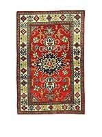 L'Eden del Tappeto Alfombra Uzebekistan Super Rojo / Beige 149  x  99 cm