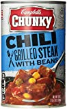 Campbell's Chunky Grilled Steak Chili with Beans, 19 Ounce Cans (Pack of 12)