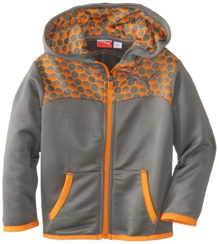 Puma Little Boys' Toddler Cell Jacket, Pewter, 2T front-952022
