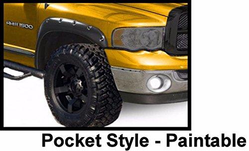 Fender Flares Pocket Rivet Bolt on Dodge Ram 1500 2500 3500 Paintable Matte (1995 Ram 1500 Fender Flares compare prices)
