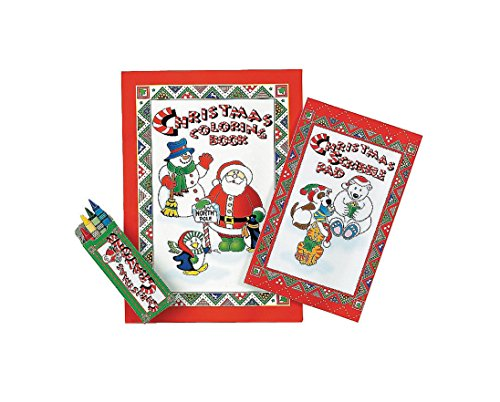 Christmas Activity Sets (Coloring Book, Scribble Pad and a Box of Crayons)