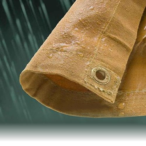 2.4M x 3.0M HEAVY DUTY CANVAS WATERPROOF TARPAULIN SHEET TARP COVER WITH EYELETS