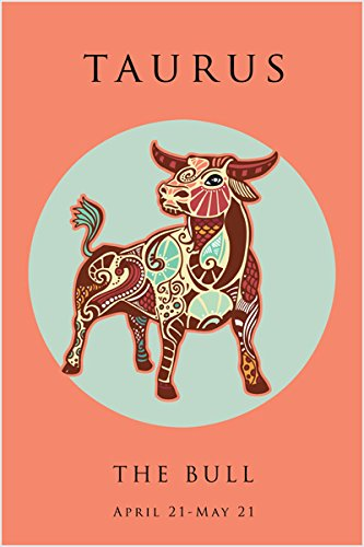 TAURUS-astrology-art-poster-24X36-SYMBOLIC-ZODIAC-the-bull-CLASSIC-UNIQUE