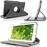MoKo 360 Degree Rotating Cover Case for Samsung Galaxy Tab 3 7.0 inch SM-T2100 / SM-T2110 Android Tablet, BLACK (WILL NOT Fit Samsung Galaxy Tab 3 Lite 7 / Tab 4 7.0)