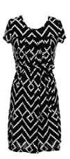 Bonmode Womens Retro Geometric Dress and