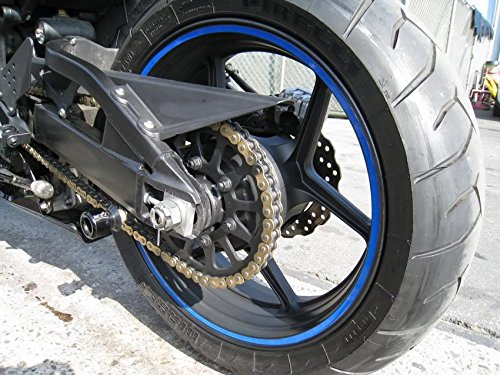 Blue Reflective Wheel Rim Stripe Decal Tape for