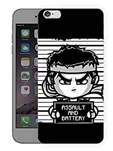 """Humor Gang Funny Fighter Cartoon Printed Designer Mobile Back Cover For """"Apple Iphone 6 PLUS - 6S PLUS"""" (3D, Matte, Premium Quality Snap On Case)"""