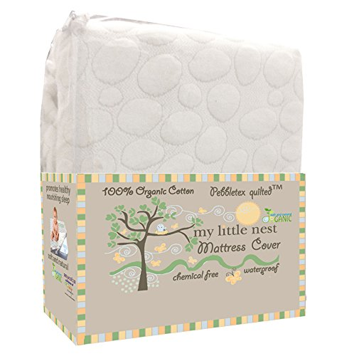 My Little Nest Organic Cotton Quilted Pebbletex Waterproof Crib Mattress Pad - 1
