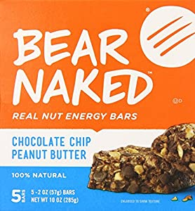 Bear Naked Real Nut Energy Bar, Peanut Butter Chocolate Chip, 2 Oz, 5 Count (Pack of 2)