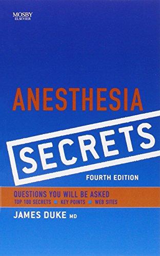 Anesthesia Secrets, 4e