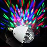E27 Rotating Crystal Ball LED Stage Light Lighting for Disco Party DJ Club Bar