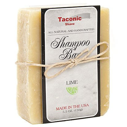 Taconic Shave LIME Shampoo Bar - All Natural / Handcrafted - 5.5 oz.