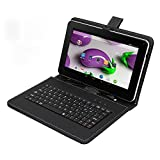 Tagital T9X 9' Quad Core Android 4.4 KitKat Tablet PC, 8GB Multimedia, Bluetooth, Dual Camera, Play Store Pre-installed, 3D Game Supported, 2016 Newest Model Bundled with Keyboard