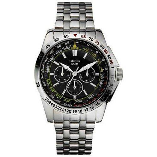 Guess W16015G1 - Reloj para hombres, correa de acero inoxidable color plateado