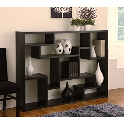 Black Bookcase/ Room Divider. This contemporary bookcase/bookshelf can also be used as a room divider. High quality perfect for your living room. Elegant display bookcase.