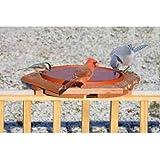 Songbird Essentials Songbird Essentials Cedar Heated Deck Bird Bath, Cedar, 19L x 19W x 3.25H in.