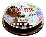 KHypermedia 74 Minute/650 MB 4x-12x CD-RW Discs (10-Pack Spindle)